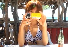 個人撮影 汗びっしょりで絶頂する彼女と海の民宿でSEX