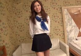 個人撮影 元AKB秋元才加似の巨乳デリ嬢と制服OPで3P