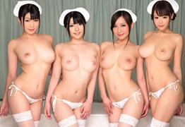 グラドル級のボディを駆使した美人看護師4人のハーレム治療!