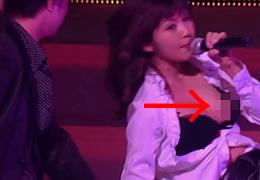 AAA(トリプル・エー)の宇野実彩子(26)が歌っている最中に乳首ポロリ
