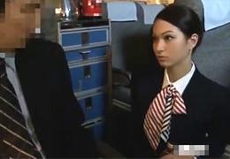 超美人CAと飛行機内でセックス